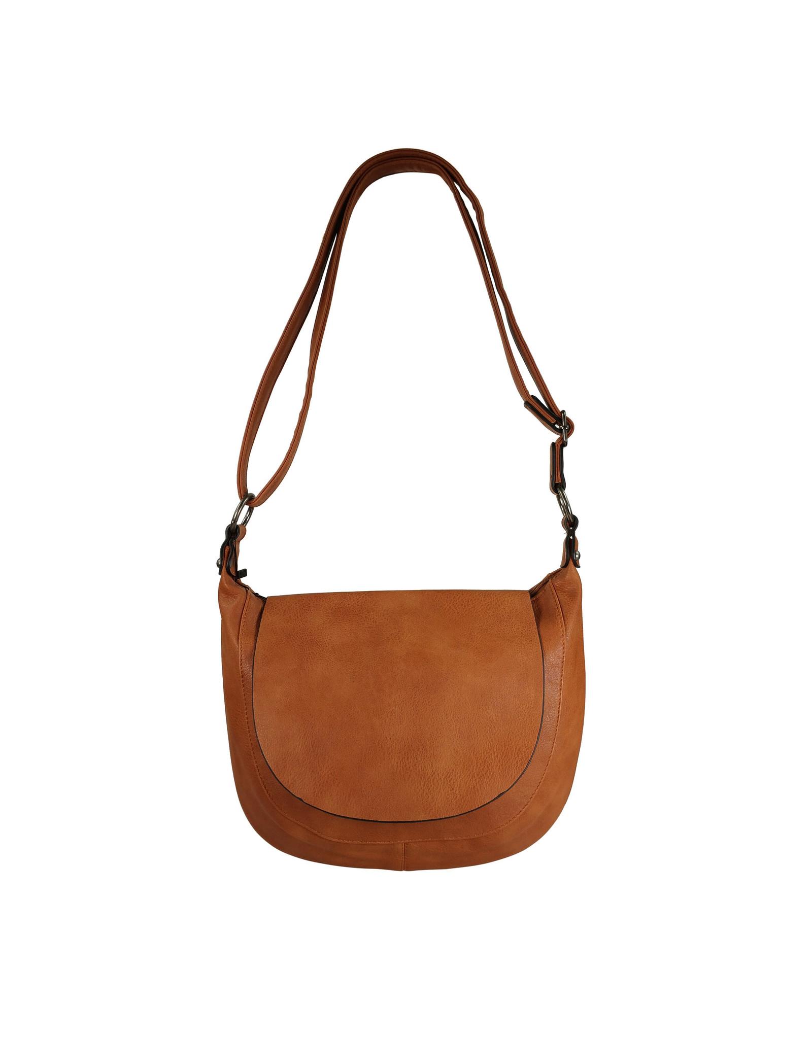 Handtas afgerond klein bruin