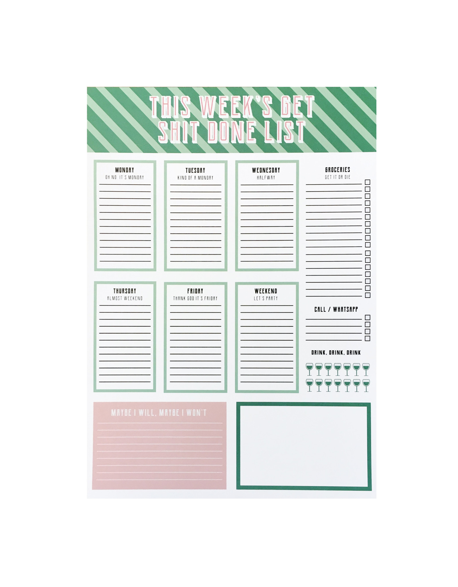 Planner get shit done A4