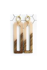oorbEllen hars&hout rechthoek XL zalmroze