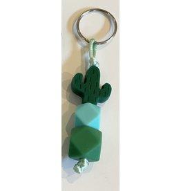 Sleutelhanger siliconen cactus mini