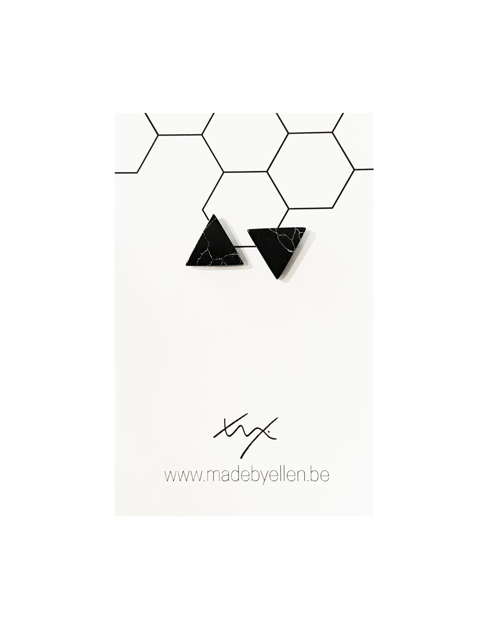 Stekers marmer driehoek zwart