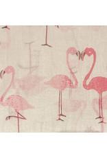 Sjaal katoen flamingo ecru