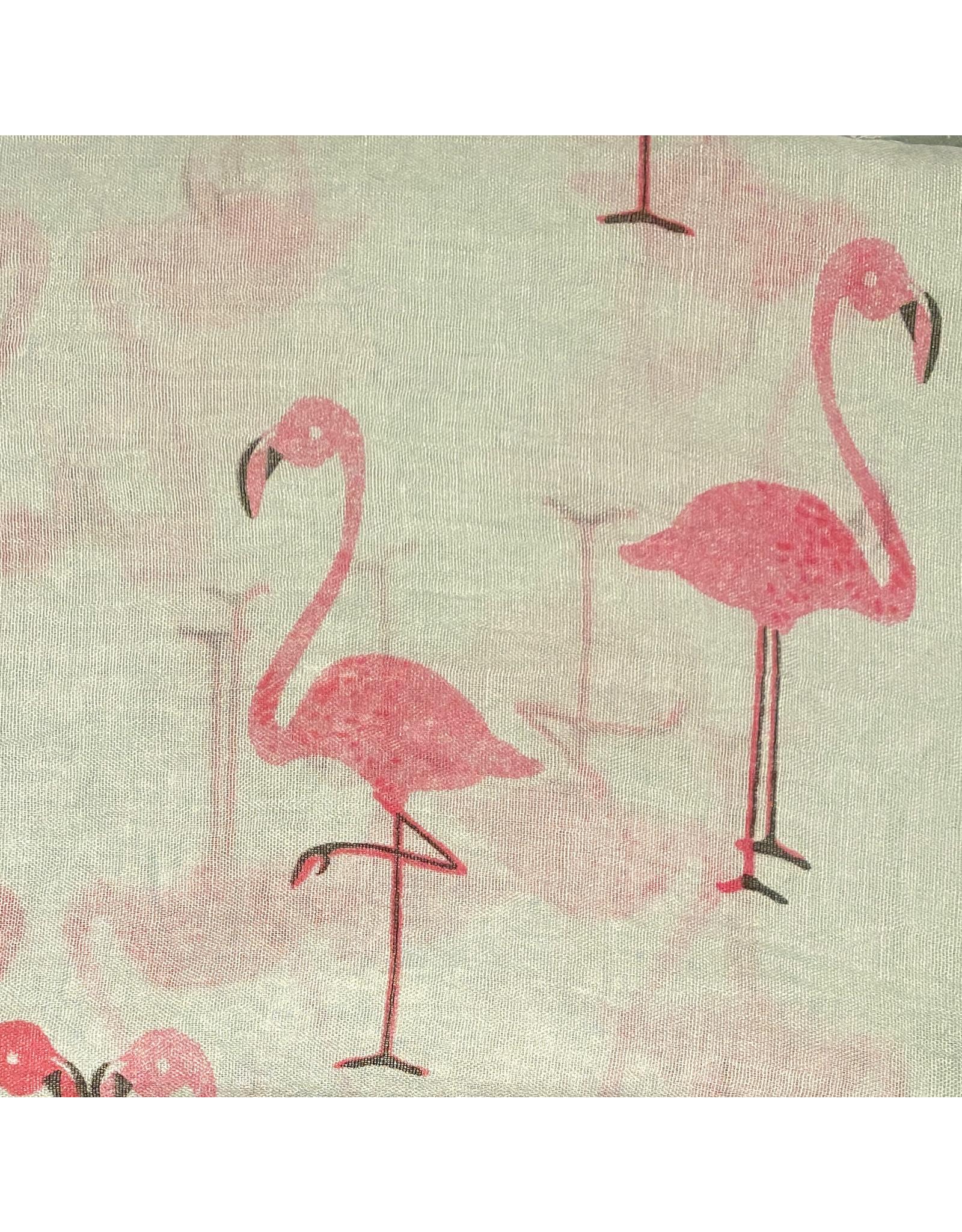 Sjaal katoen flamingo munt