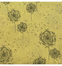 Sjaal katoen blaasbloem pistache