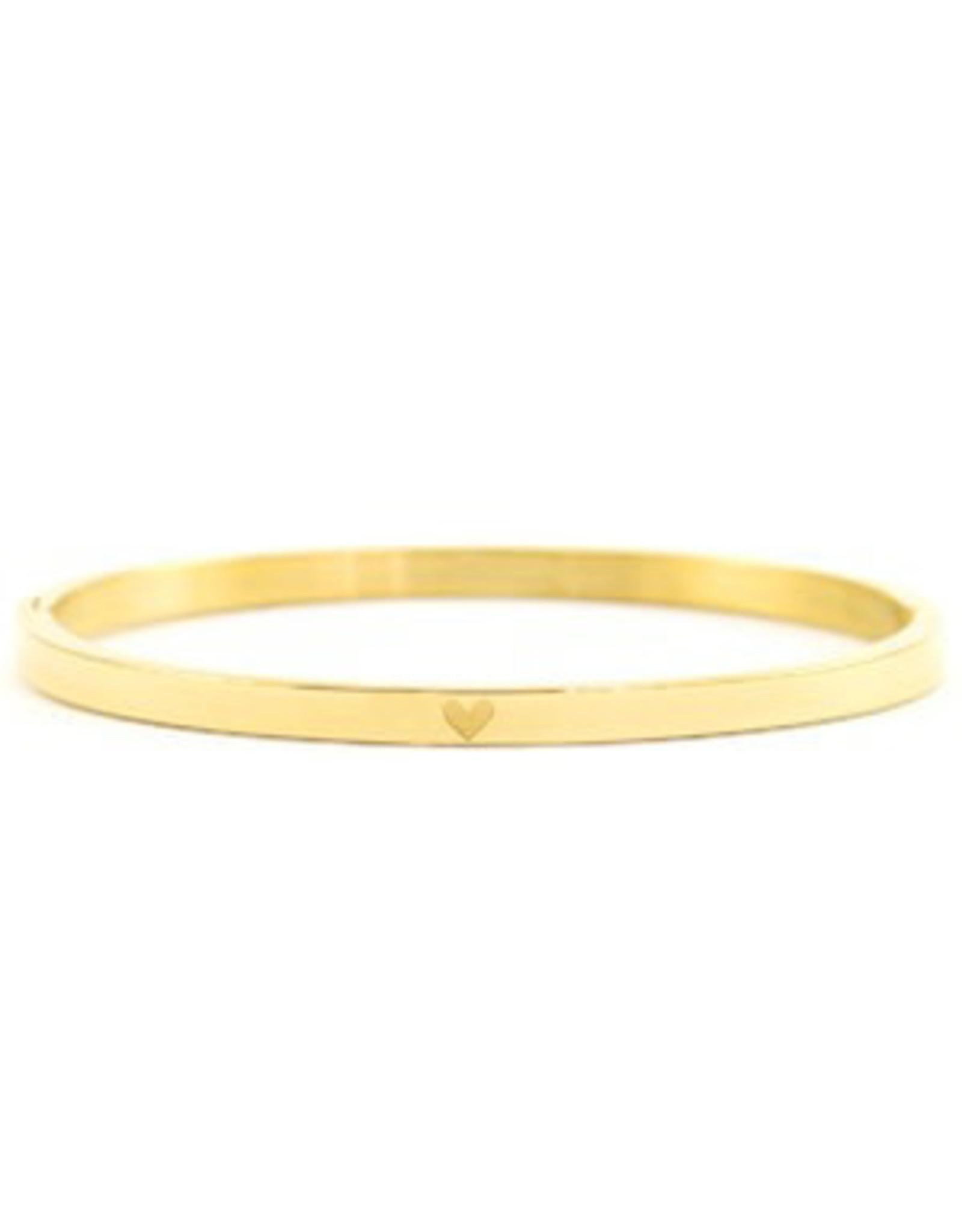 Armband RVS hart smal goudkleurig