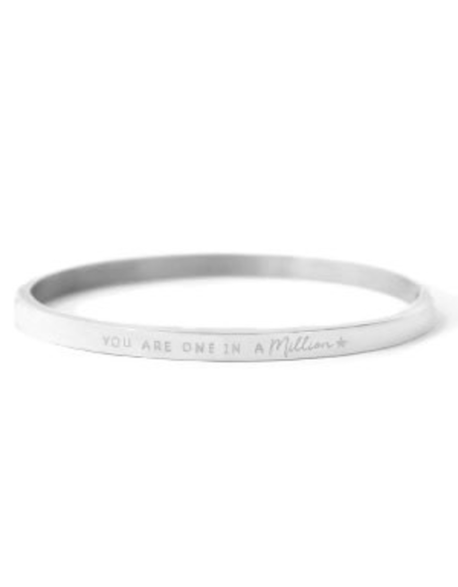 Armband RVS You are one in a million zilverkleurig