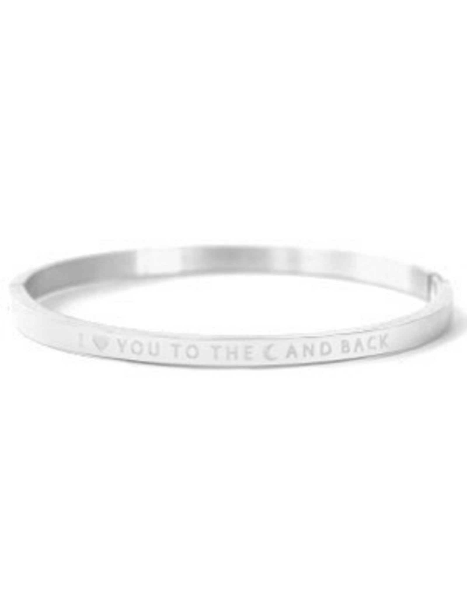 Armband RVS I love you to the moon and back smal zilverkleurig