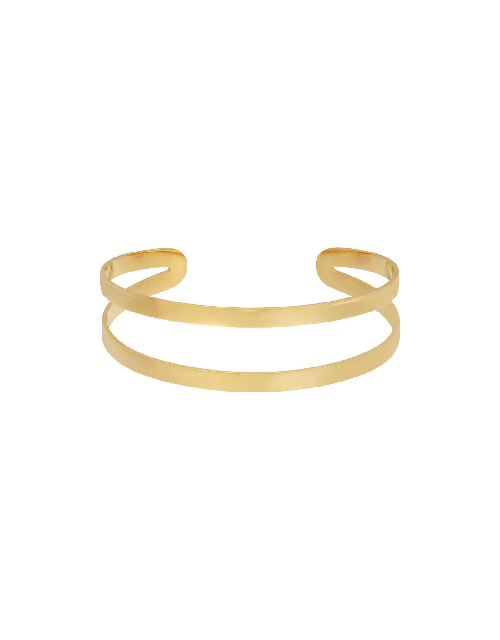 Armband RVS dubbel goudkleurig