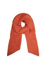 Sjaal schuin warm oranje