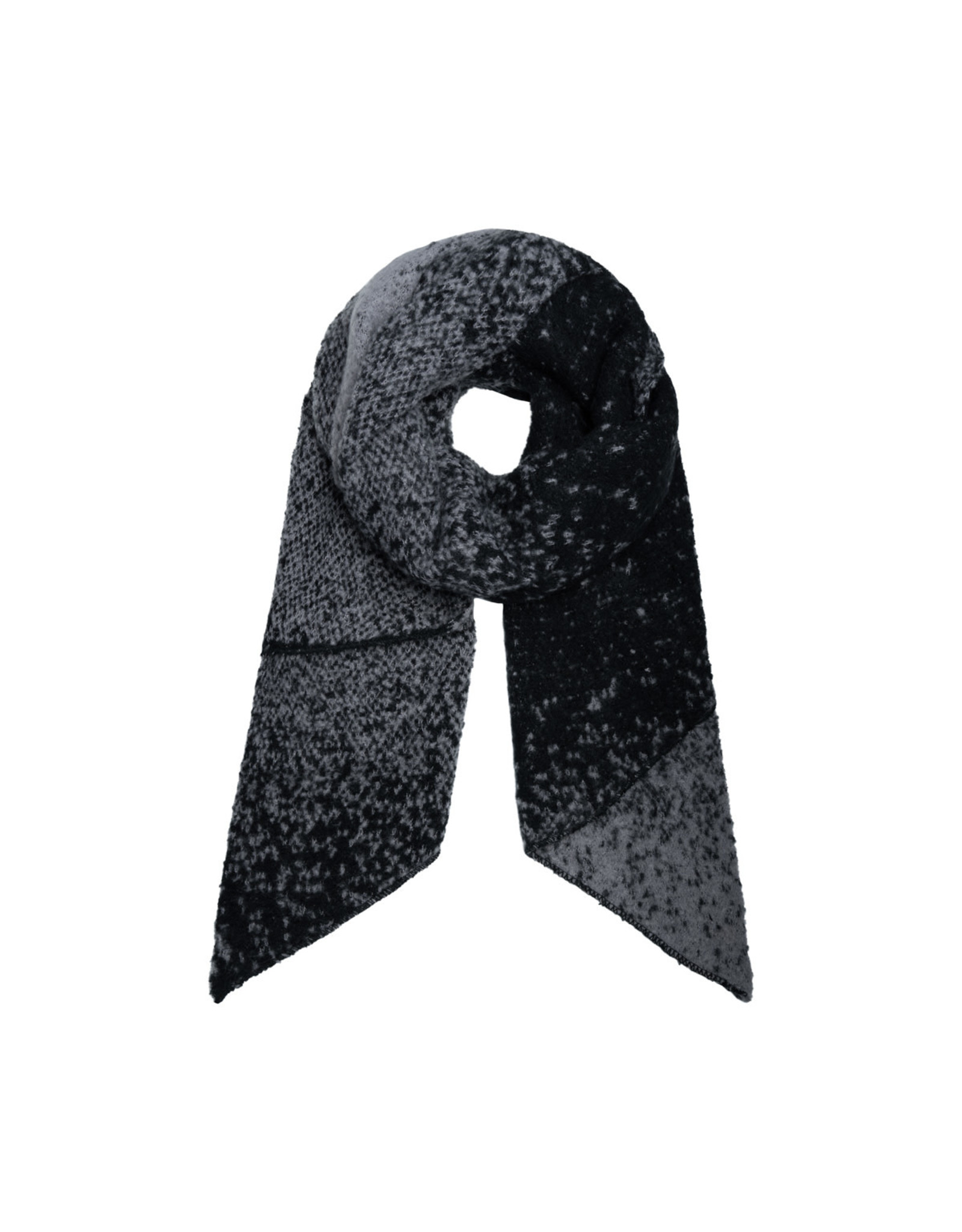 Sjaal schuin zwart/grijs