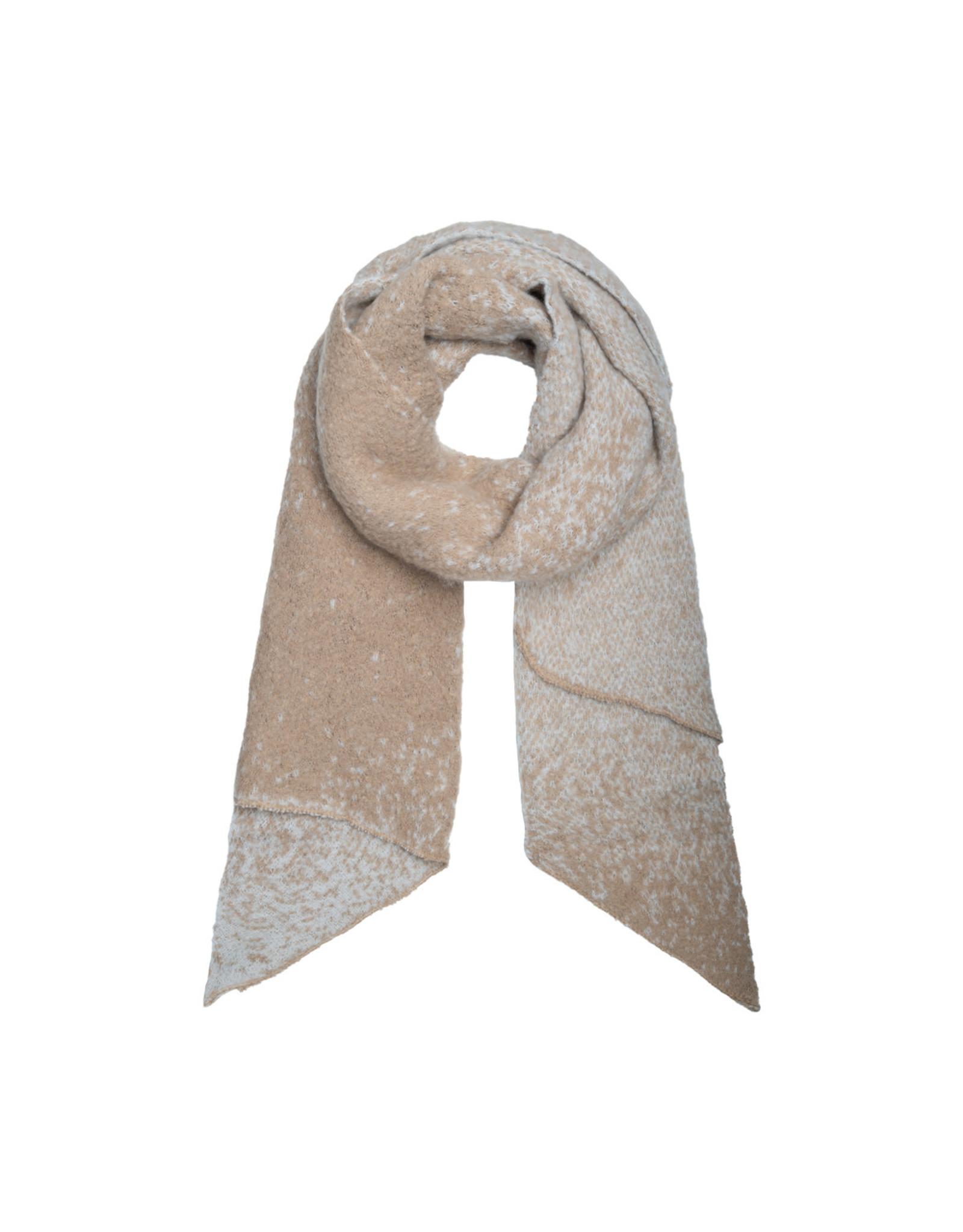 Sjaal schuin ecru/beige dégradé