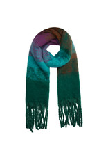 Sjaal groen/turquoise/mauve