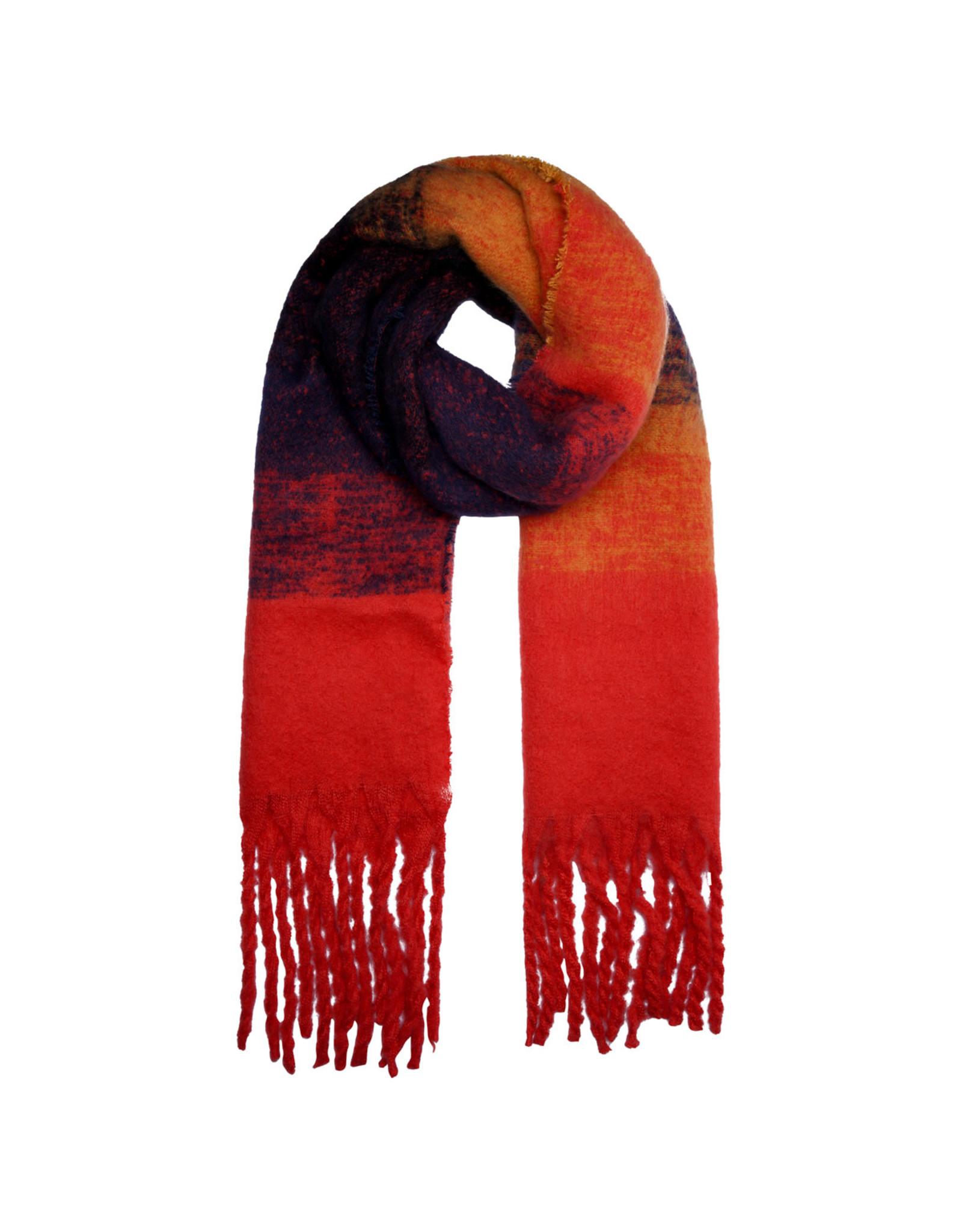 Sjaal rood/oranje/zwart