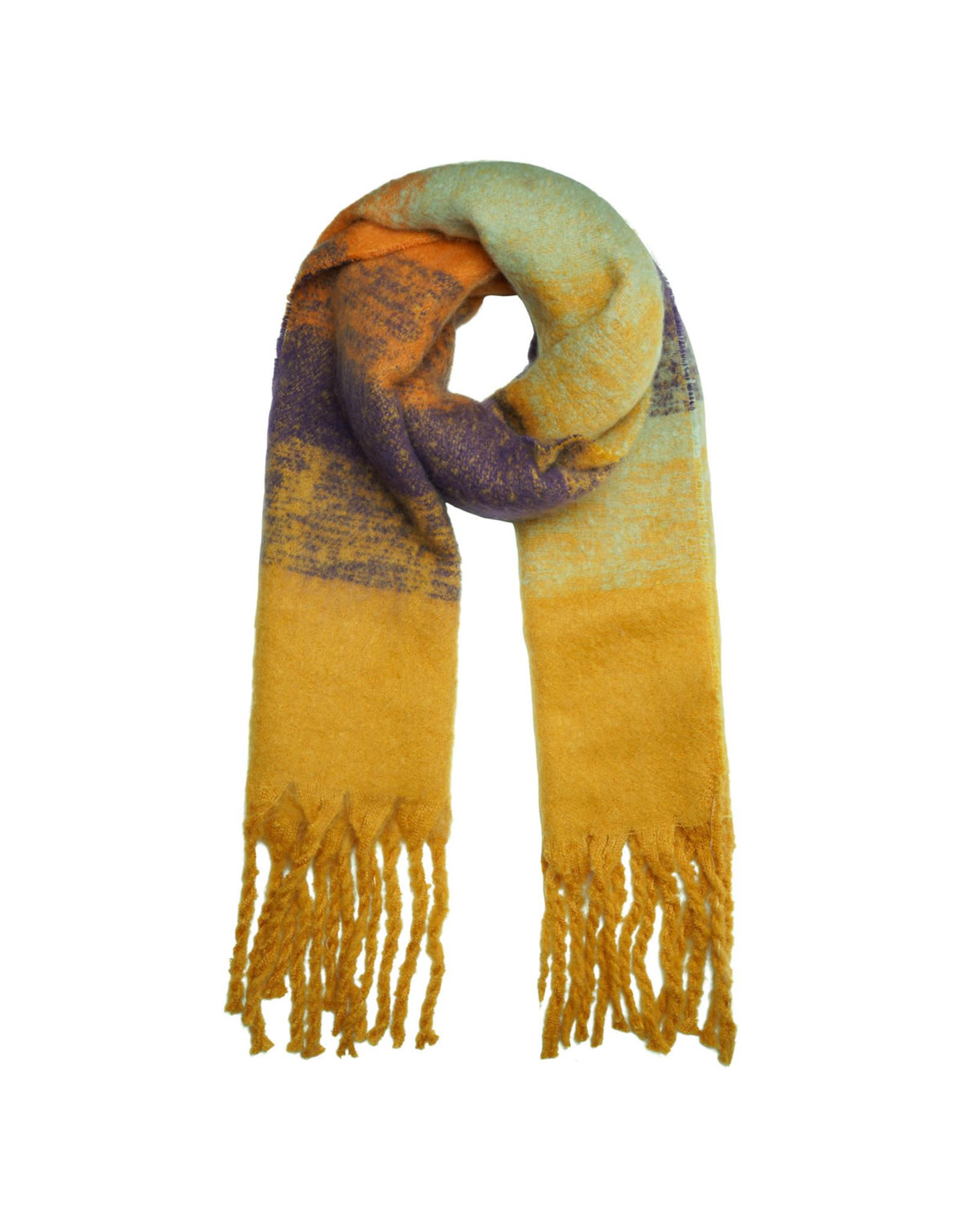Sjaal oker/oranje/munt