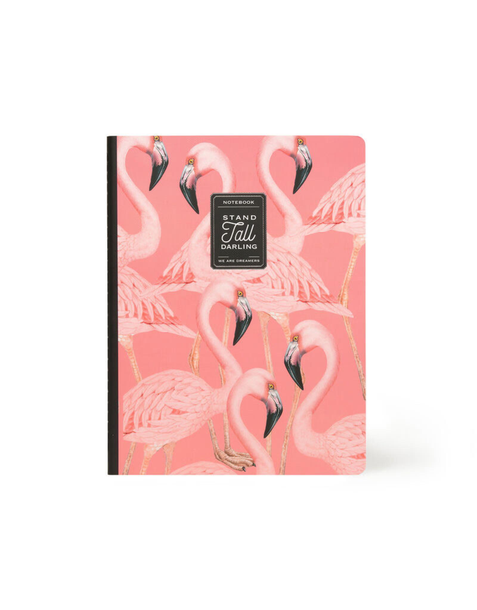 Notaboek gelijnd groot flamingo