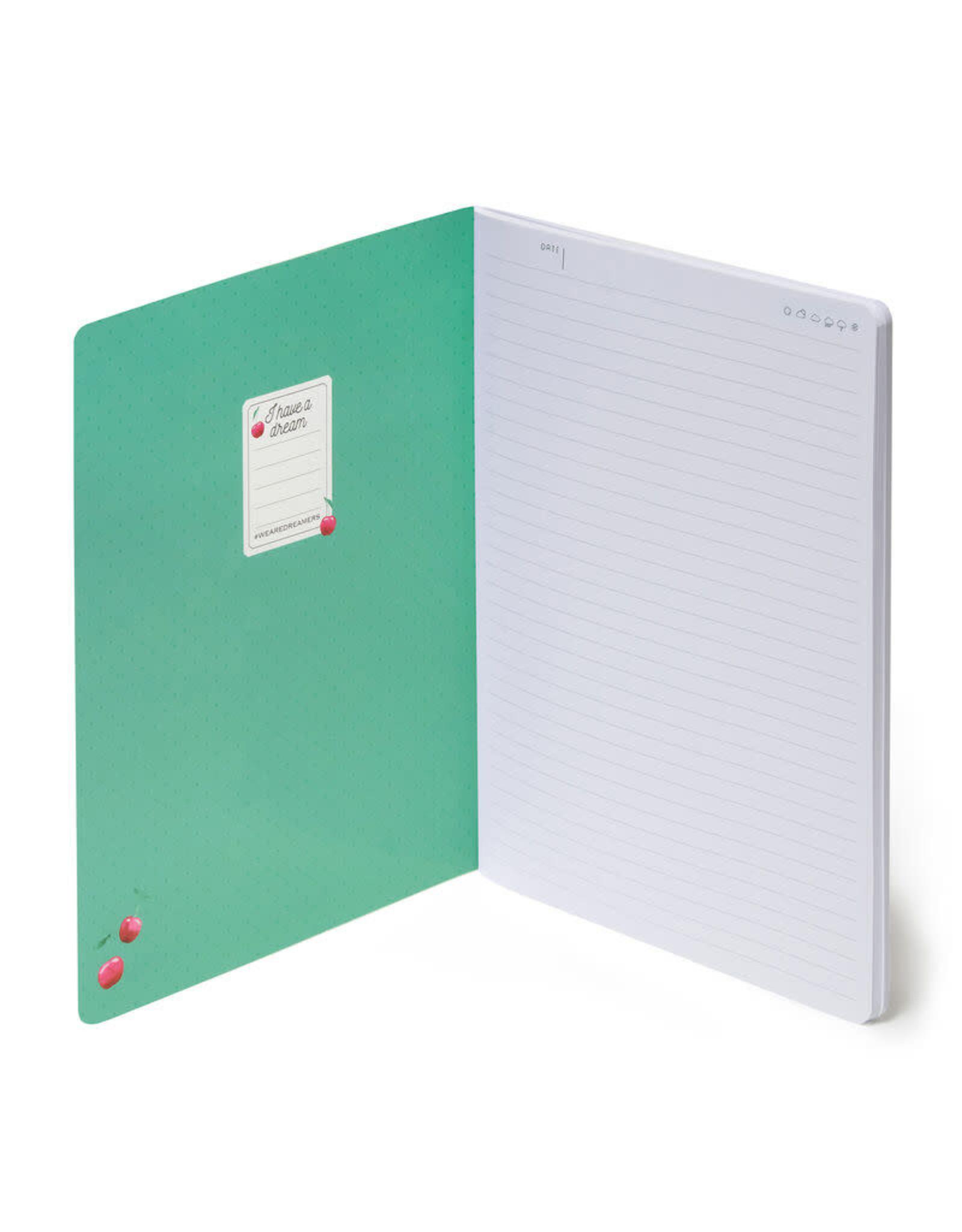 Notaboek gelijnd groot kers
