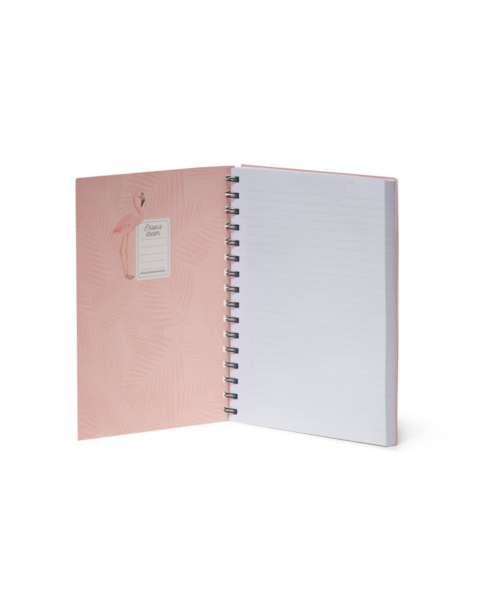 Notaboek spiraal A5 flamingo