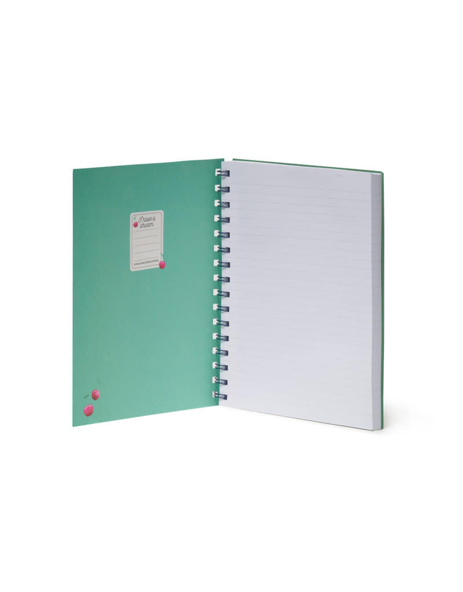 Notaboek spiraal A5 kers