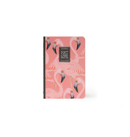 Schrift A5 gelijnd flamingo