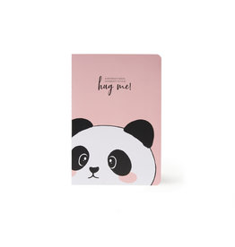 Schriftje A5 blanco panda
