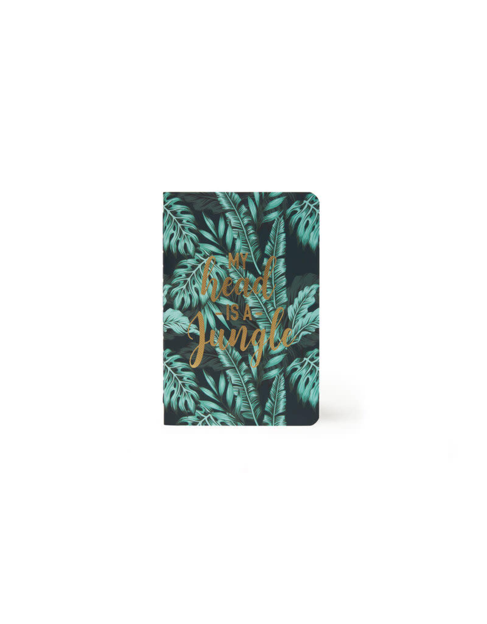 Schriftje A6 gelijnd tropical leafs