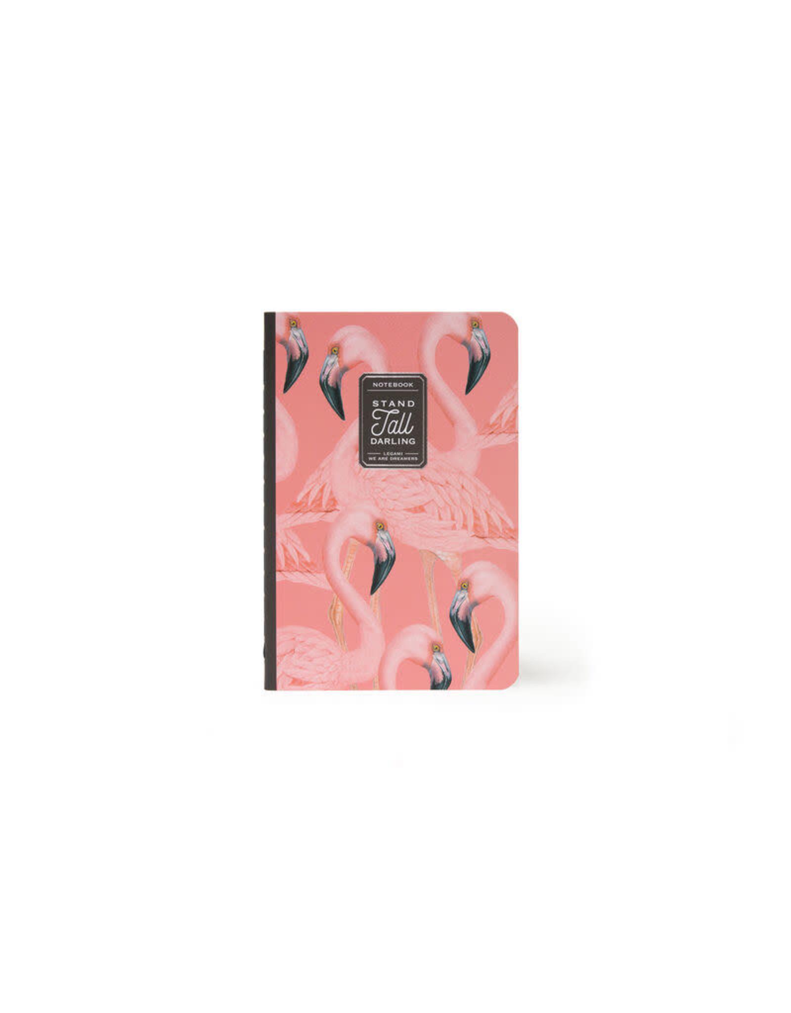 Schriftje A6 gelijnd flamingo