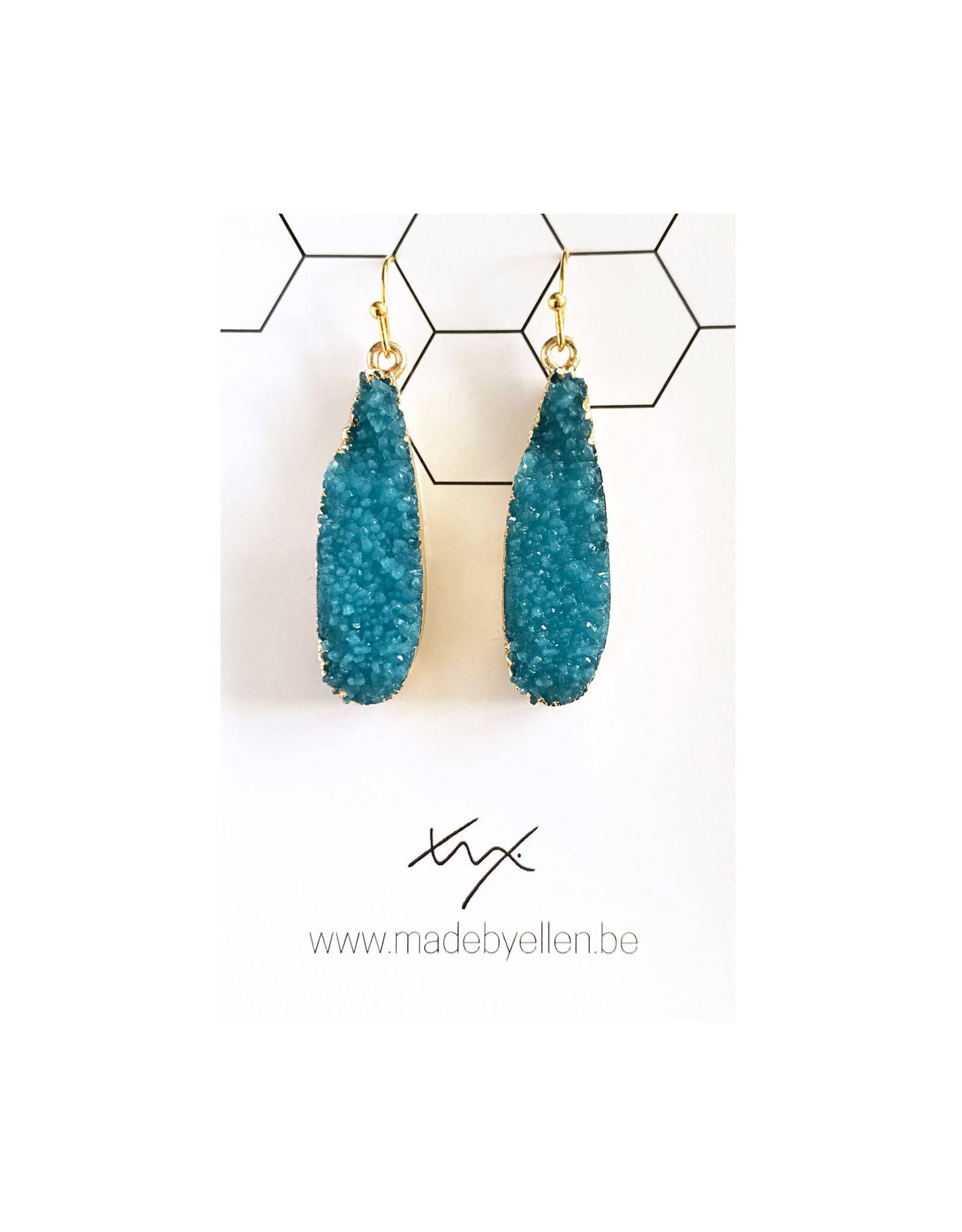 oorbEllen hars turquoise