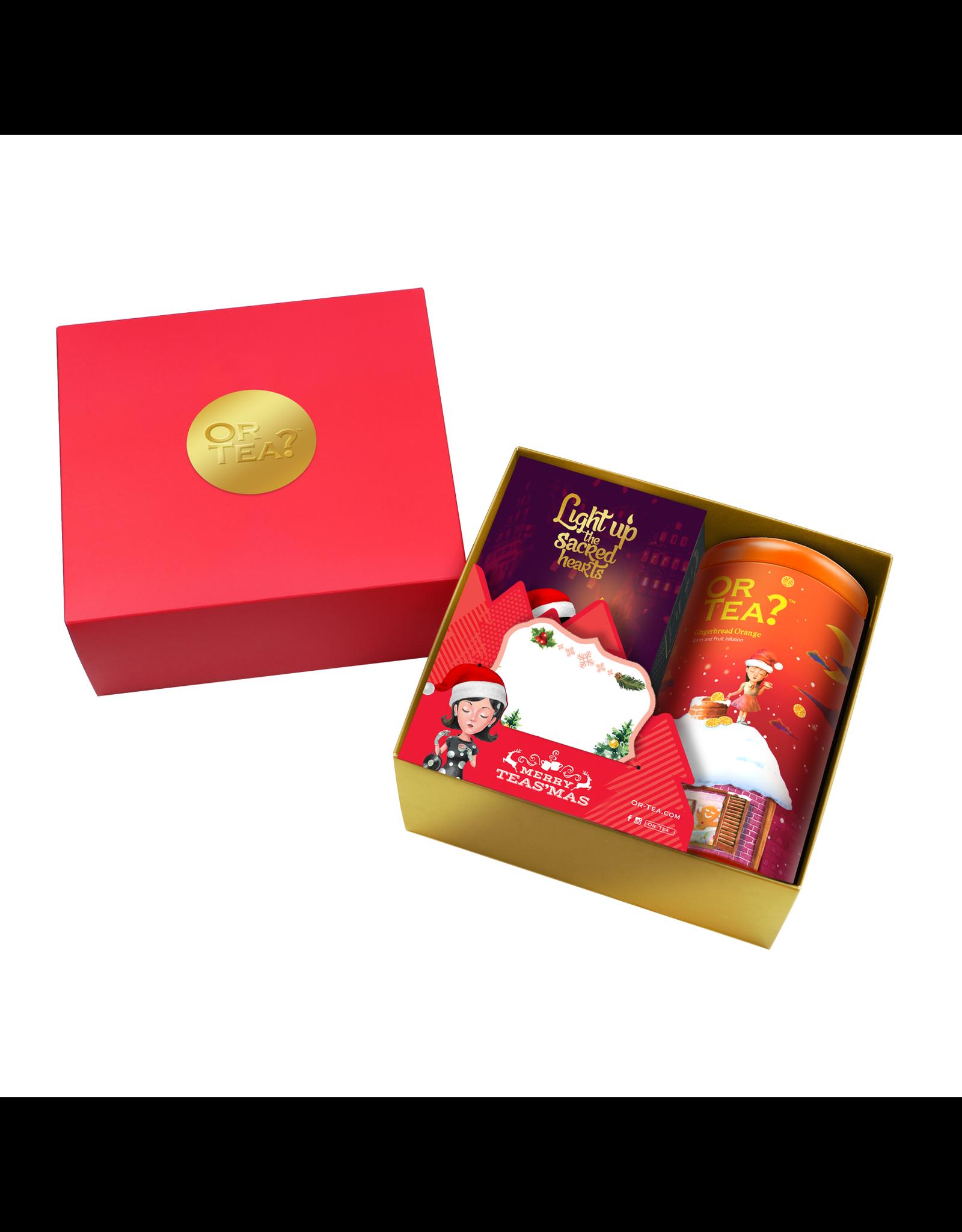 Kerstbox GingerBread Orange & kaars