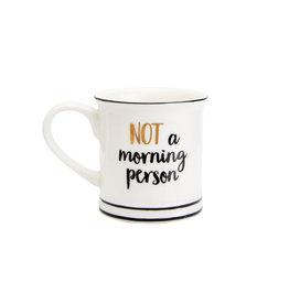Tas espresso goudfolie Not a morning person