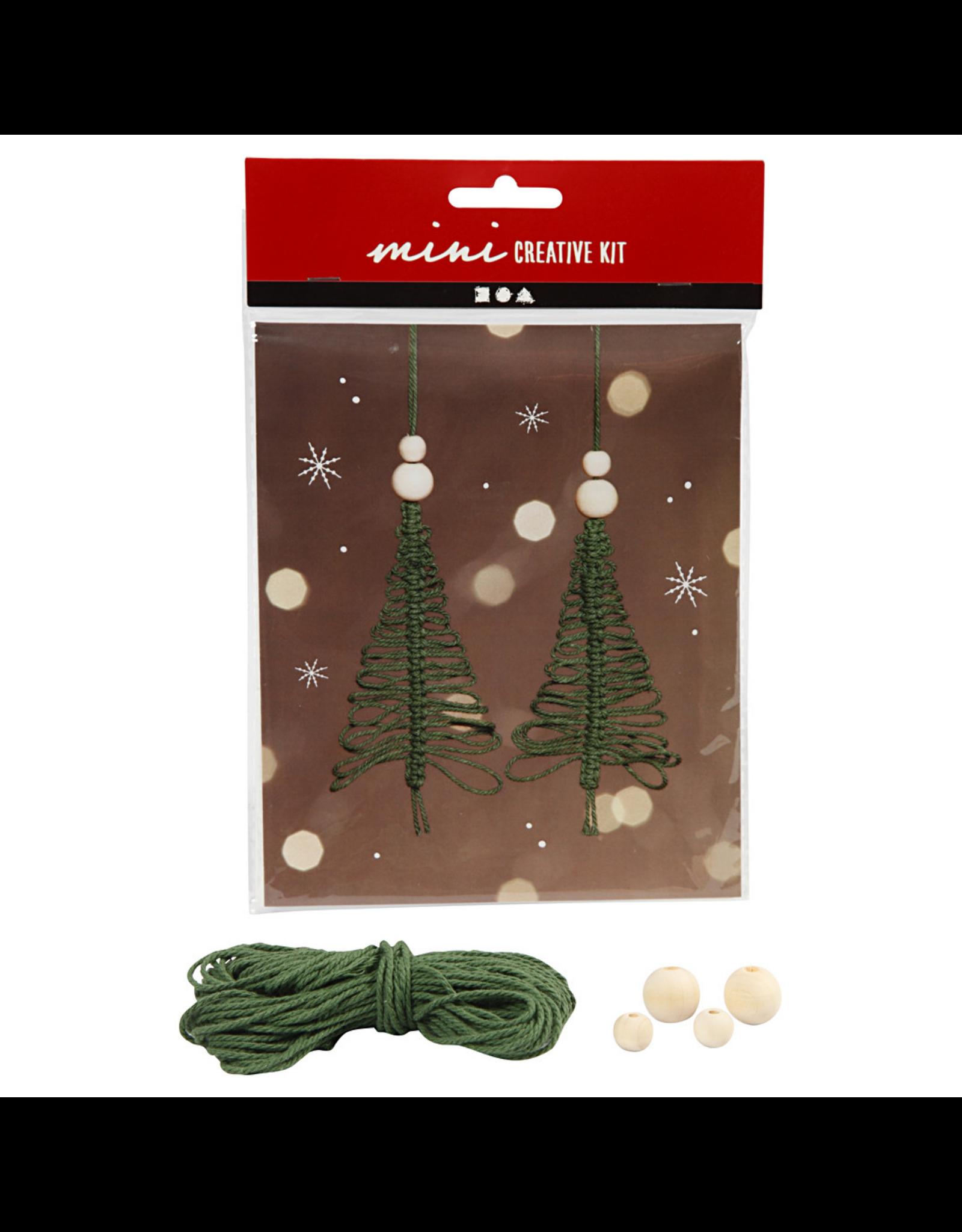 DIY mini kerstboom macramé