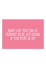 Postkaart Keep your chin up