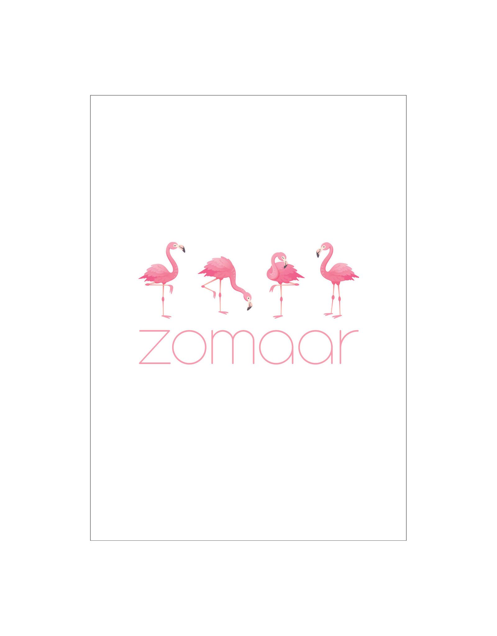 Postkaart flamingo zomaar