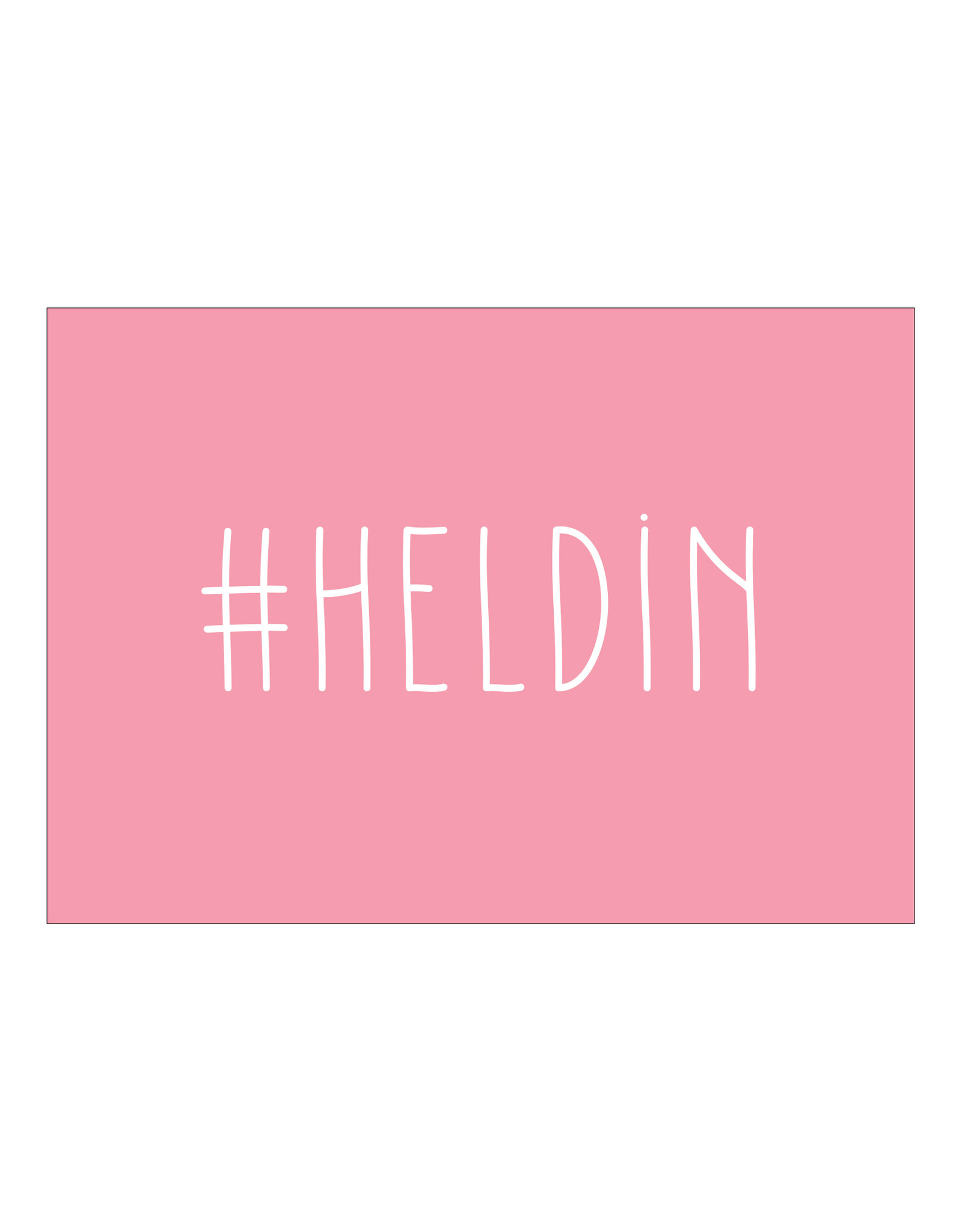Postkaart #HELDIN