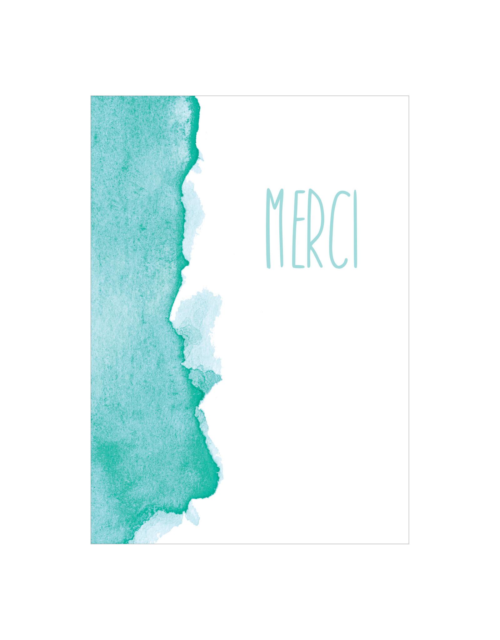 Postkaart Merci
