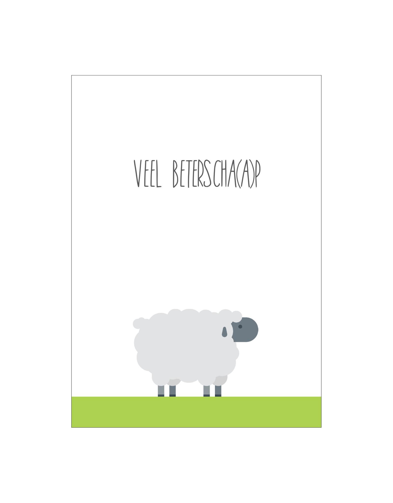 Postkaart Veel beterscha(a)p