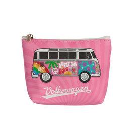 Portemonneetje VW busje roze
