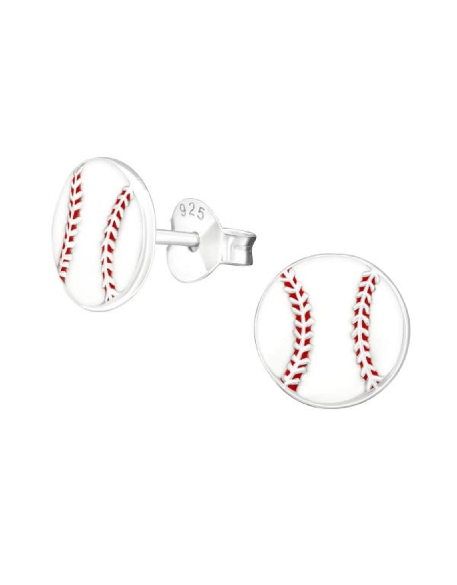 Stekertjes zilver baseball