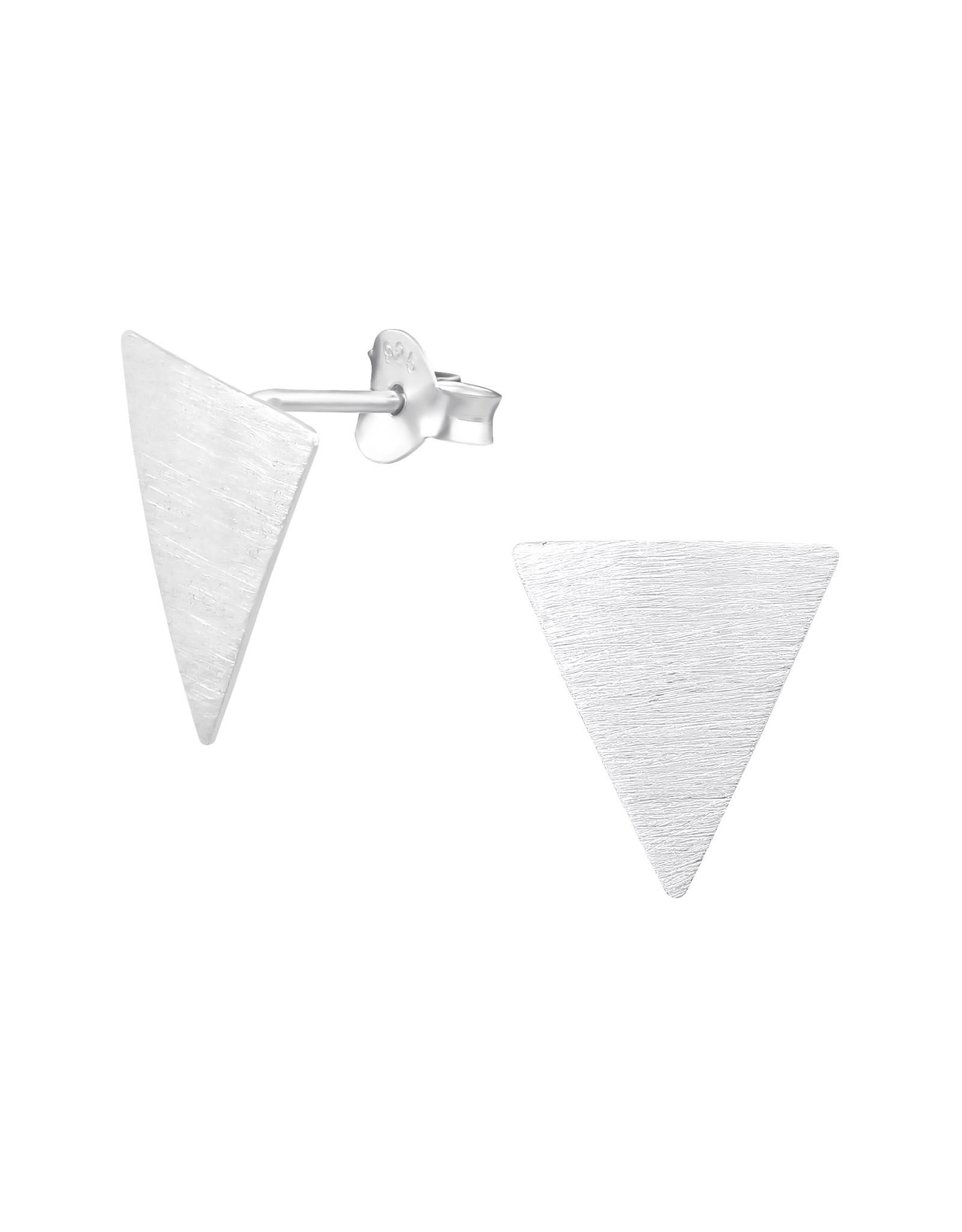 Stekertjes zilver driehoek mat groot