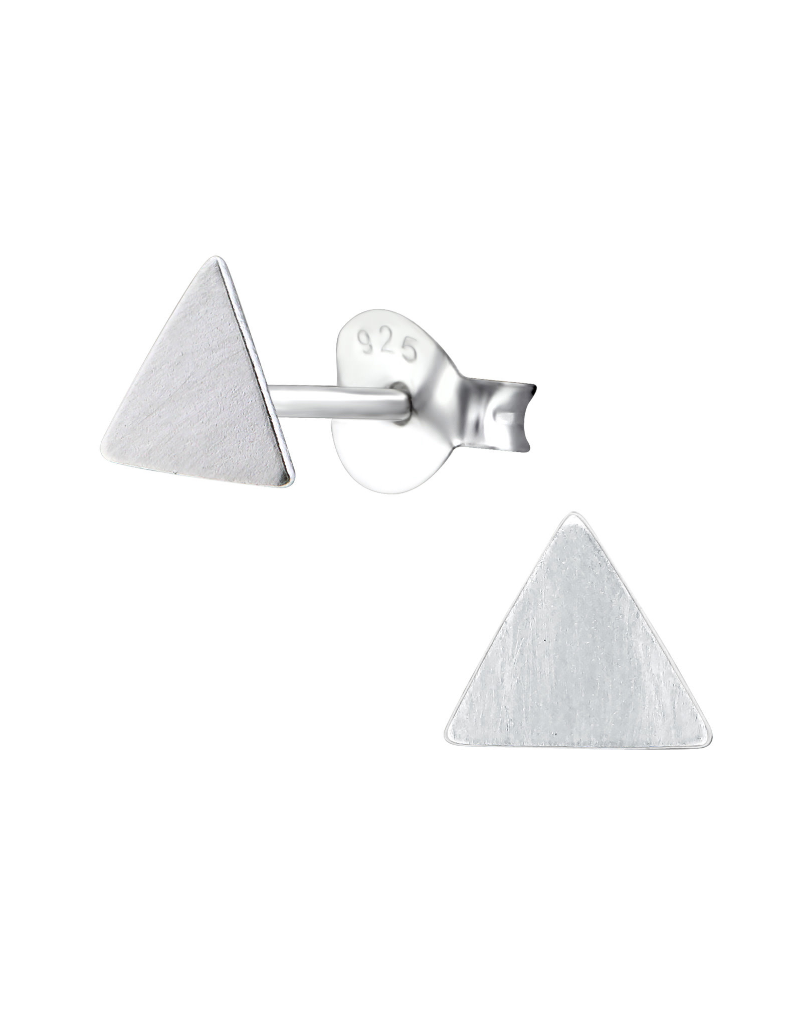 Stekertjes zilver driehoek mat