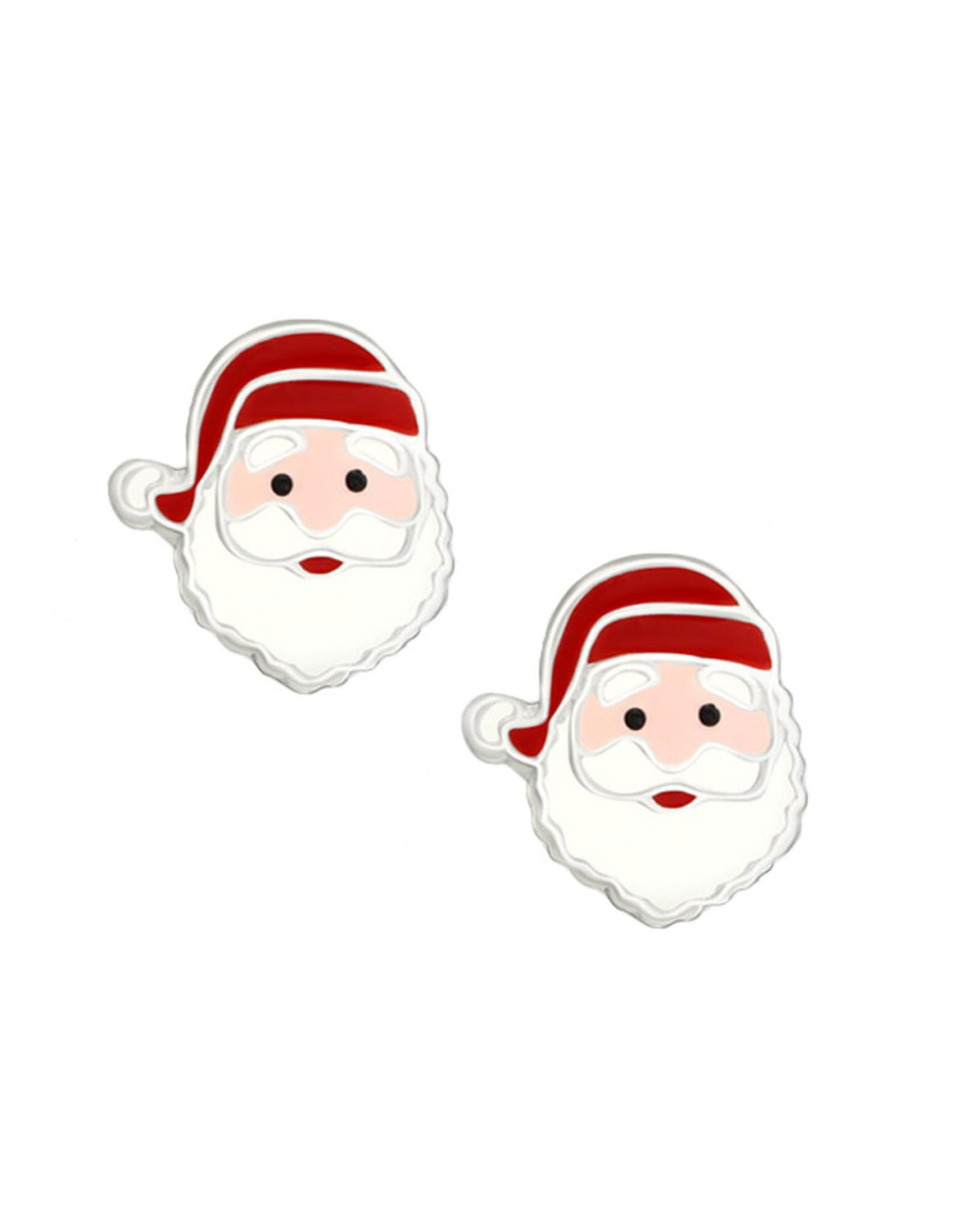 Stekertjes zilver kerstman