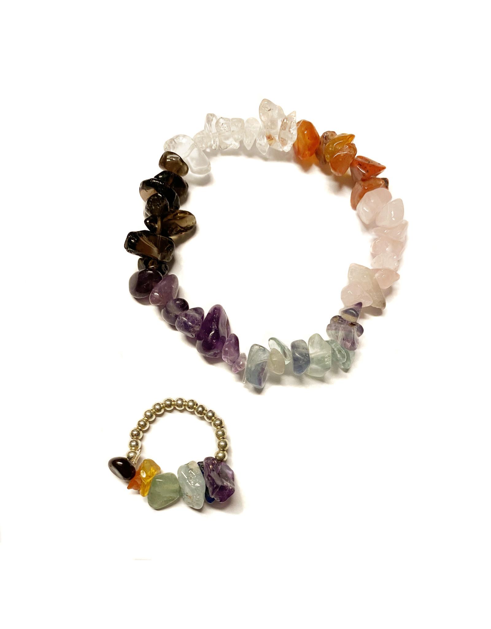 Setje armband & ring natuursteen