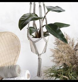 DIY set macramé plantenhanger S