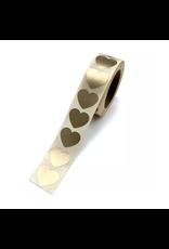 Stickers hart mini goud 5st.