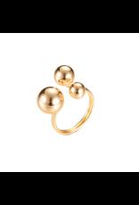 Ring bollen goudkleurig