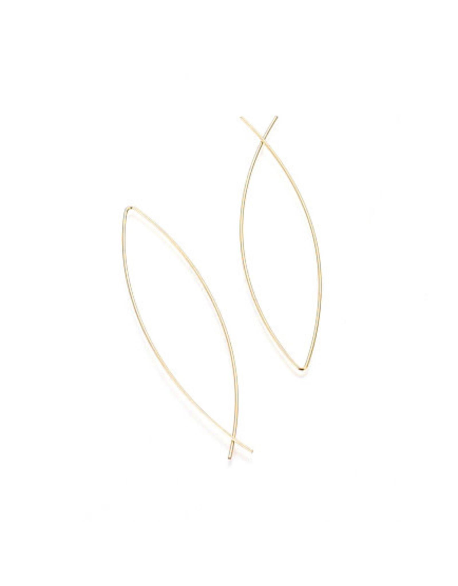 oorbEllen minimalistisch RVS goudkleurig