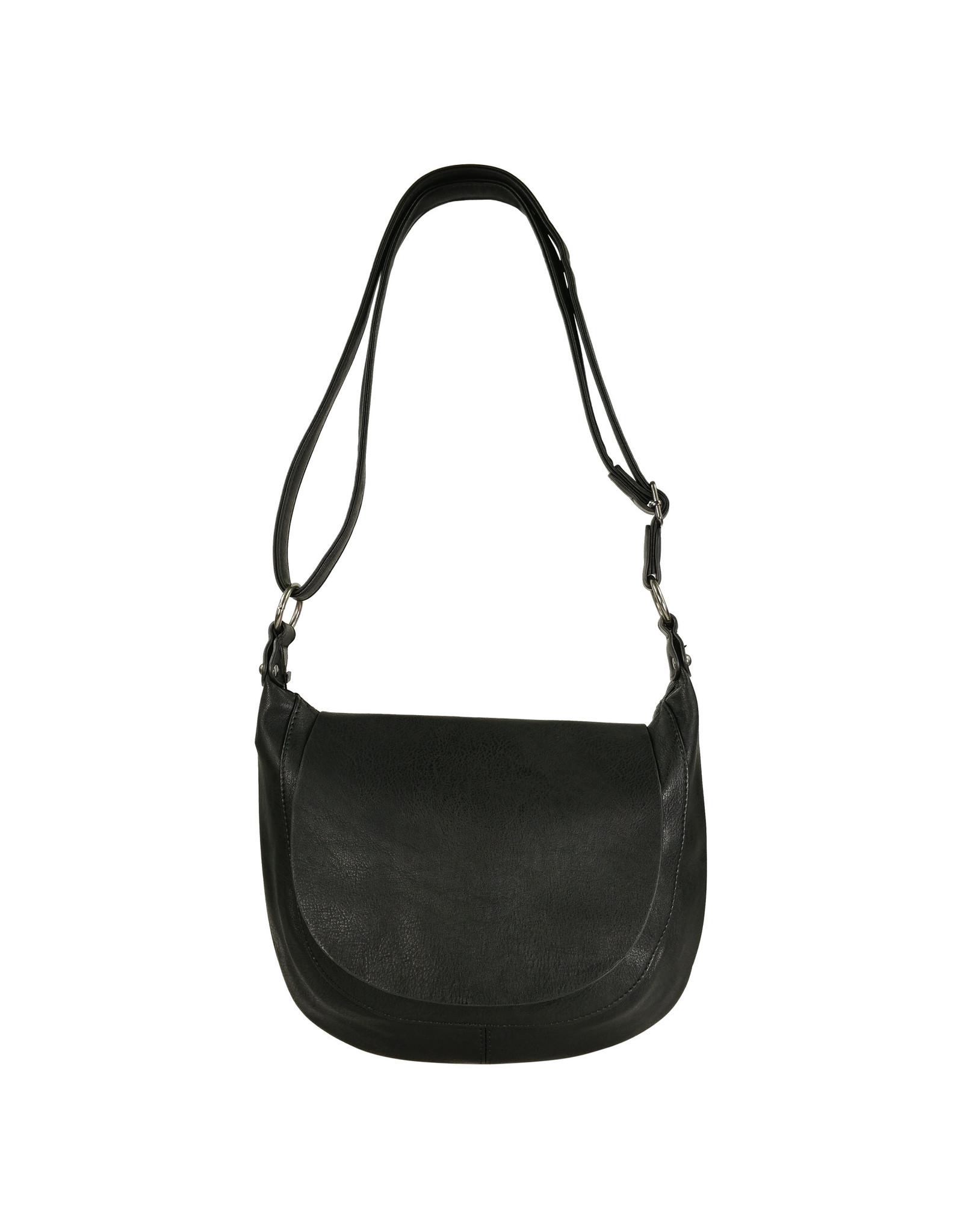 Handtas afgerond klein zwart