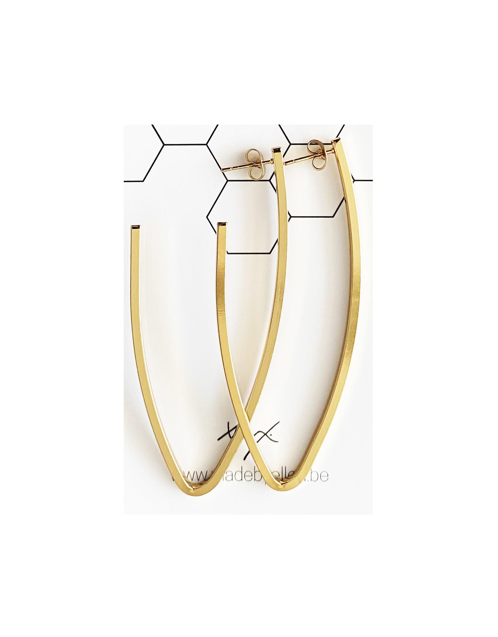 Hangers V goudkleurig RVS 70mm