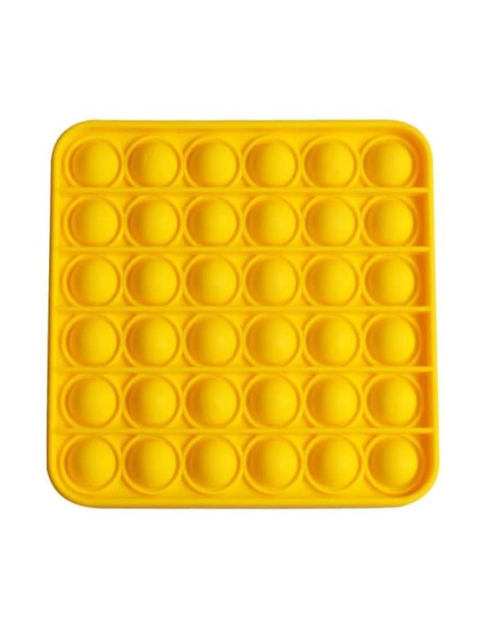 Pop it vierkant geel