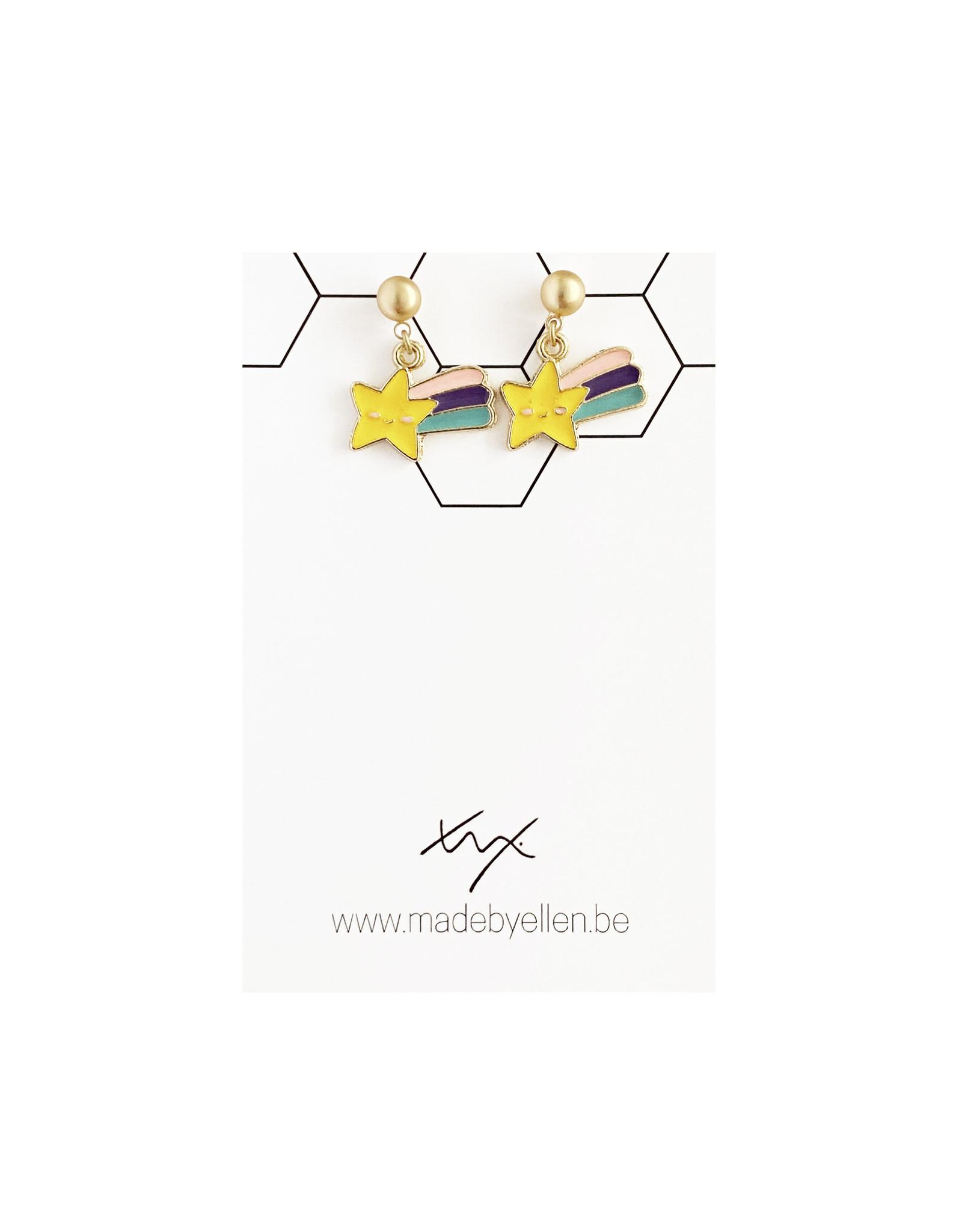 Hangertjes email regenboog & ster