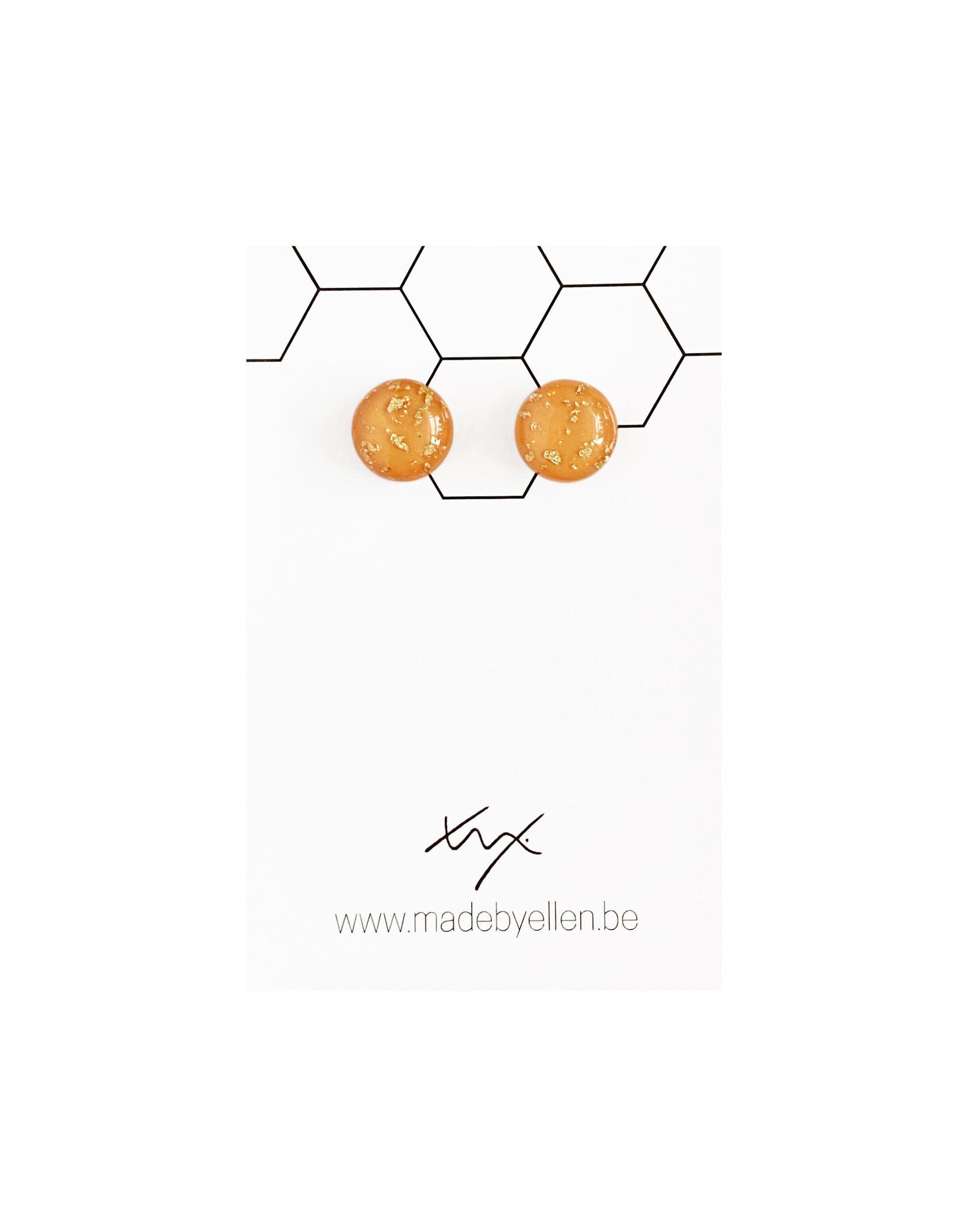 Stekertjes goudfolie 12mm oranje